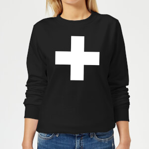 The Motivated Type Swiss Cross Women's Sweatshirt - Black