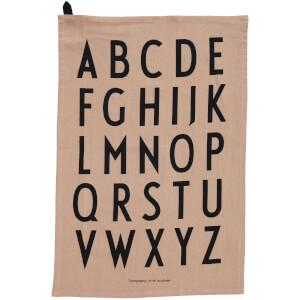 Design Letters Classic Tea Towel - Nude (2 Pack)