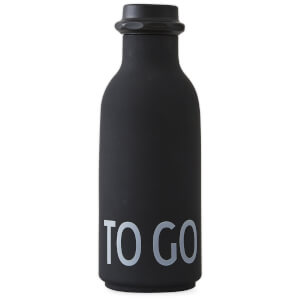 Design Letters To Go Water Bottle - Black