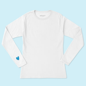 Blue Valentine Heart On Your Sleeve Unisex Long Sleeved T-Shirt - White