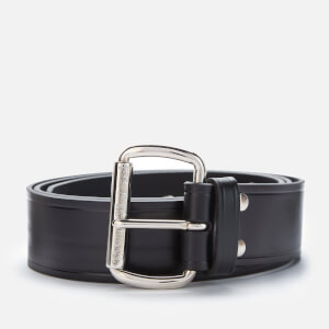 Vivienne Westwood Alex Belt - Rhodium Black Leather