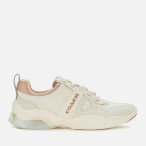 Coach Women's ADB Suede/Nylon Running Style Trainers - Chalk/Taupe