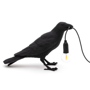 Seletti Waiting Bird Lamp - Black