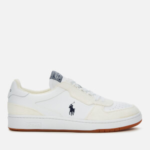 Polo Ralph Lauren Men's Polo Court Leather/Suede Trainers - White/Navy