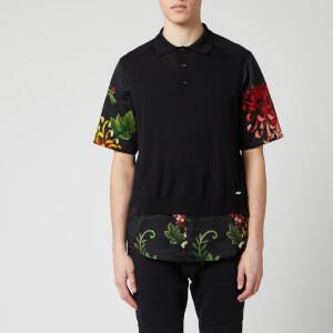 Dsquared2 Men's Polo Shirt - Black Floral Satin