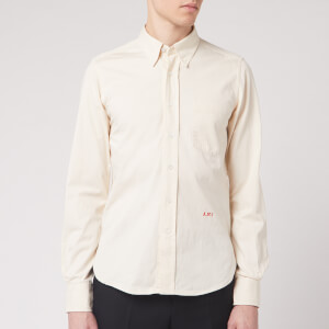 "AMI Men's Button Down ""Boy"" Fit Shirt - Off White"