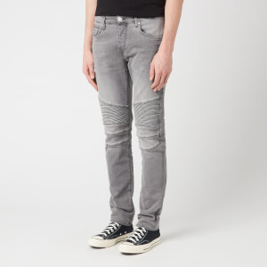 True Religion Men's Rocco Biker Grey Denim Jeans - Grey Denim