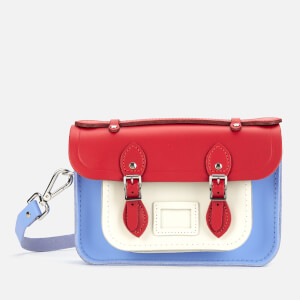 The Cambridge Satchel Company Women's Mini Satchel - Red Berry/Lily White/Bluebell Matte