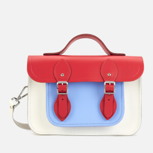"The Cambridge Satchel Company Women's 11"" Magnetic Batchel - Red Berry/Lily White/Bluebell Matte"