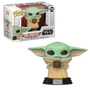 Figurine Pop! L'Enfant (Bébé Yoda) Avec Tasse - Star Wars: The Mandalorian