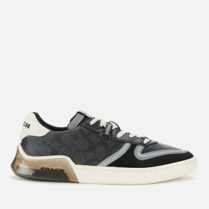 Coach Men's Signature Tech Court Trainers - Charcoal/Black