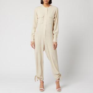 Isabel Marant Women's Tacaia Silk Bourette Overalls - Ecru