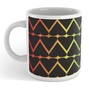 Black Hearts On Rainbow Mug