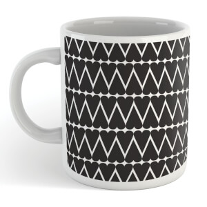 Black Hearts With White Background Mug