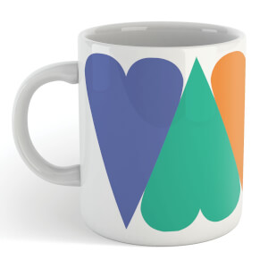 Giant Rainbow Hearts Mug