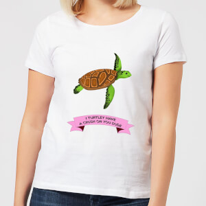 I Turtley Have A Crush On You Dude Women's T-Shirt - White