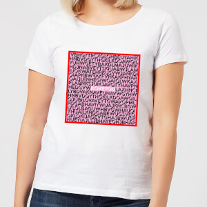 I Love You Word Search Women's T-Shirt - White