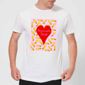 I Love You As Much As I Love Pasta Men's T-Shirt - White