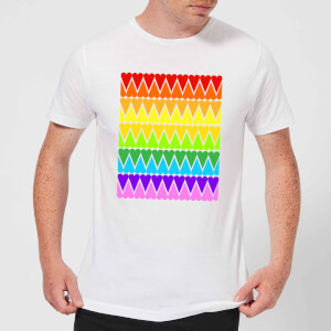 Rainbow Heart Upside Down Men's T-Shirt - White