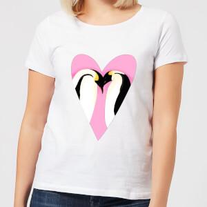 Love Heart Penguins Women's T-Shirt - White