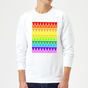 Rainbow Heart Upside Down Sweatshirt - White