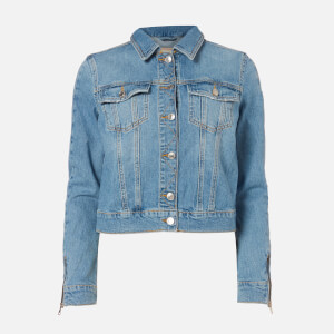 Guess Women's Adelya Zip Denim Jacket - Dolby