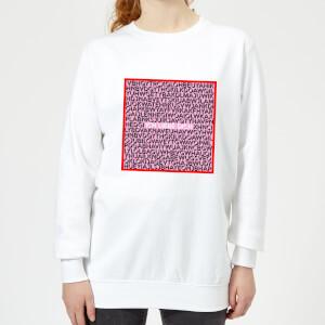 Ich Liebe Dich Word Search Frauen Pullover - Weiss