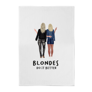 Blondes Do It Better Cotton Tea Towel