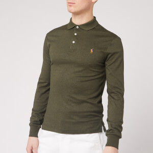 Polo Ralph Lauren Men's Long Sleeve Pima Polo Shirt - Alpine Heather