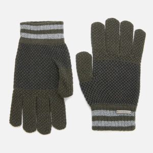 Ted Baker Men's Rushglo Birdseye Merino Blend Gloves - Khaki