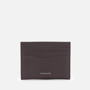 Coach Men's Pebble Leather Card Case - Oak