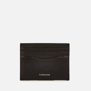 Coach Men's Pebble Leather Card Case - Black