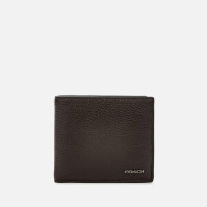 Coach Men's Pebble Leather Coin Wallet - Oak