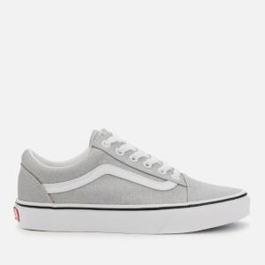 Vans Women's Old Skool Glitter Trainers - Silver/White