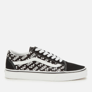 Vans Old Skool Logo Repeat Trainers - Black/True White