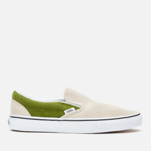 Vans Men's Suede Classic Slip-On Trainers - Rainy Day/Calla Green