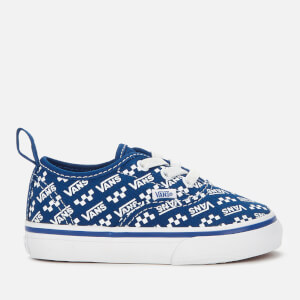 Vans Toddler's Logo Repeat Elastic Lace Trainers - Blue/True White