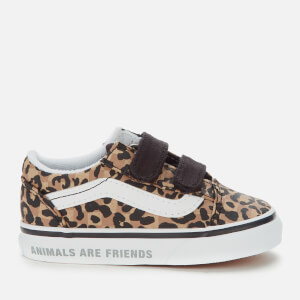 Vans Toddler's Animal Old Skool Velcro Trainers - Leopard/Black