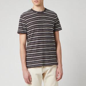 Folk Men's Textured Stripe T-Shirt - Charcoal Ecru