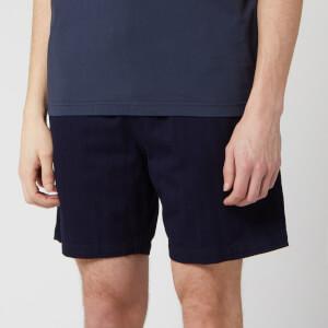 Universal Works Men's Herringbone Denim Beach Shorts - Indigo