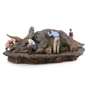 Iron Studios Jurassic Park Deluxe Art Scale Diorama 1/10 Triceratops 74cm