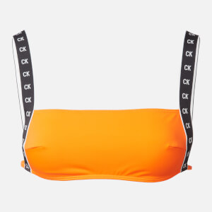 Calvin Klein Women's Square Bandeau Bikini Top - Vermillion Orange