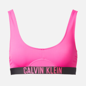 Calvin Klein Women's Cut Out Bralette Bikini Top - Pink Glo