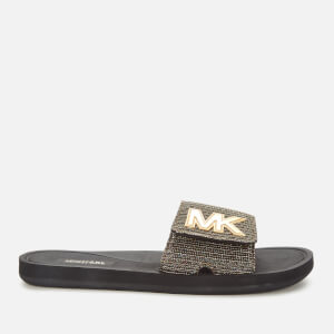 MICHAEL MICHAEL KORS Women's MK Slide Sandals - Black