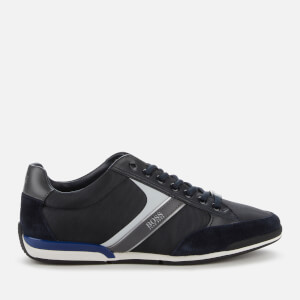 BOSS Hugo Boss Men's Saturn Low Profile Trainers - Dark Blue