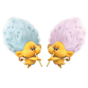 Trolls World Tour Cherub Blue & Pink Mini Sized Cardboard Cut Out's