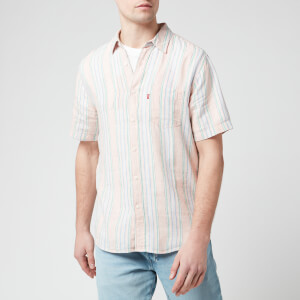 Levi's Men's Sunset One Pocket Short Sleeve Shirt - Pink