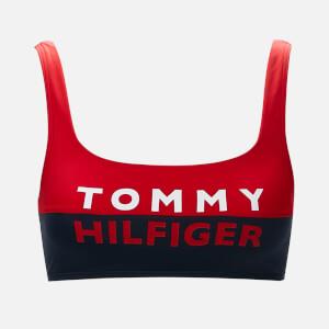 Tommy Hilfiger Women's Bralette Bikini Top - Red Glare
