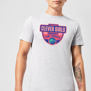 Jurassic Park Clever Girls Inherit The Earth Men's T-Shirt - Grey