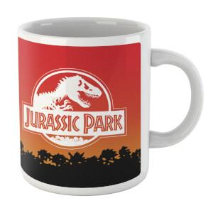 Tazza Jurassic Park Sunset Logo